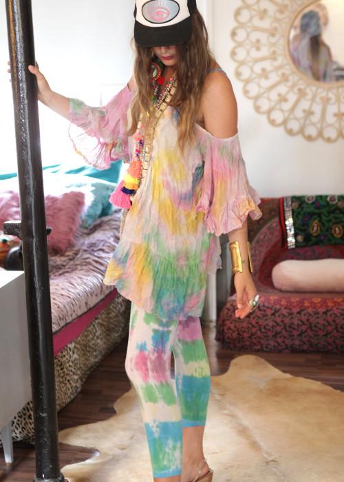 Boho Leggings Handbatik multicolor