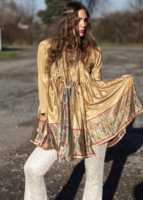 Bohemian Couture Jacke retro gold