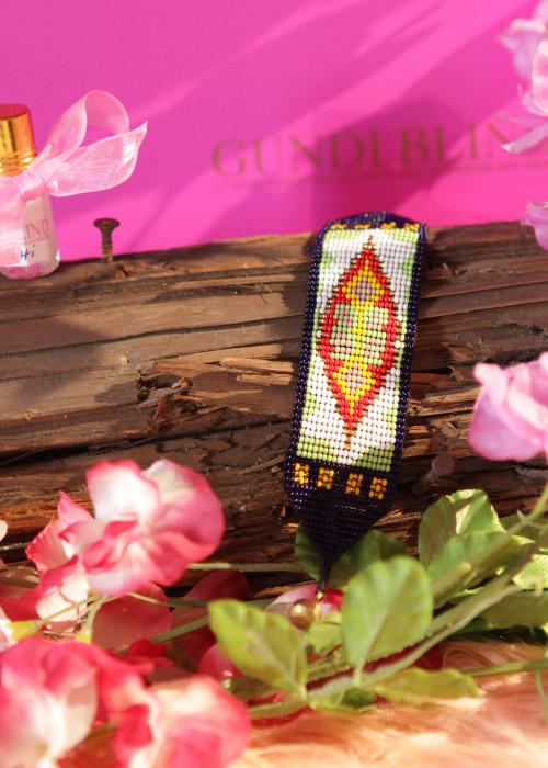 Boho Armband Artisan lila