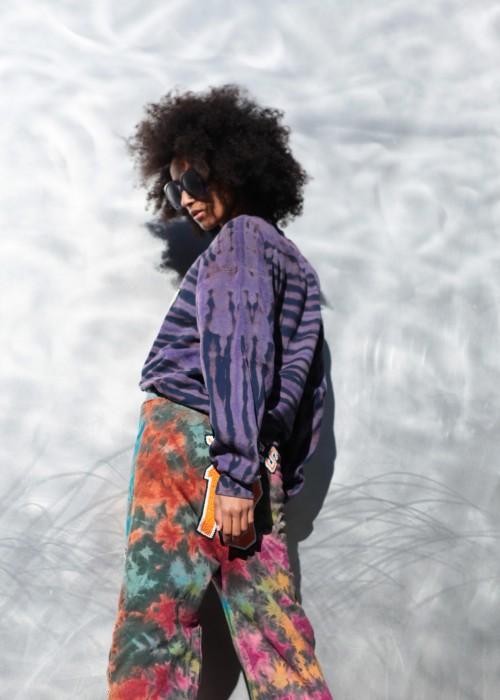 Crop Sweater Batik Kemp 27 lila