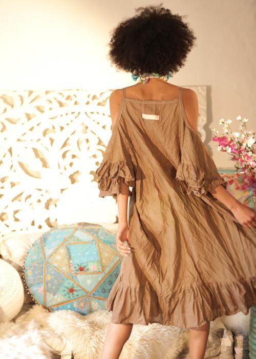 Boho Kleid Renewal Midi braun