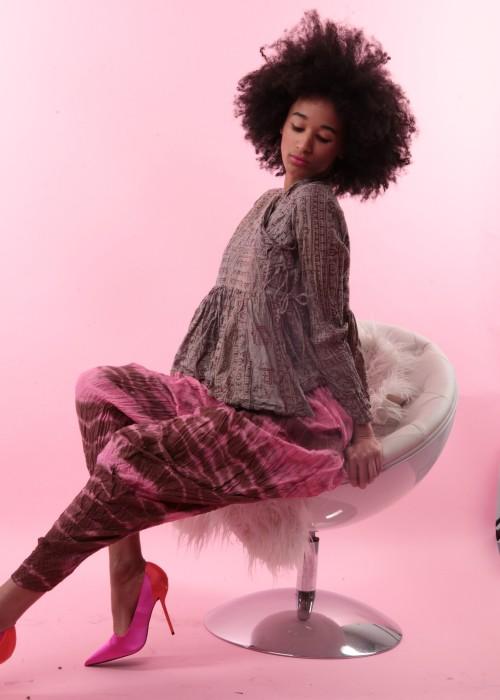Bohemian Couture Jacke Gebetstuch Ultra Short braun