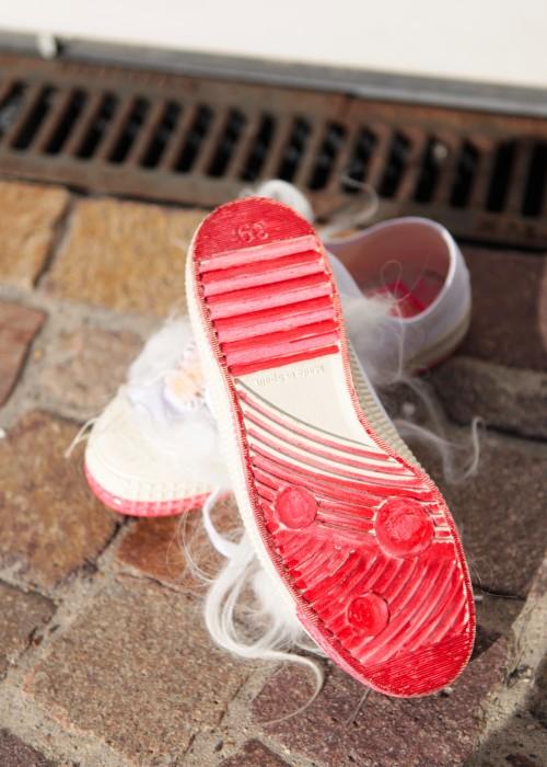 Boho Sneaker Tibethlamm weiss Size 39