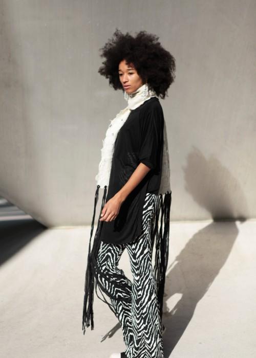 Stola Merino Organic Silk Wool weiss