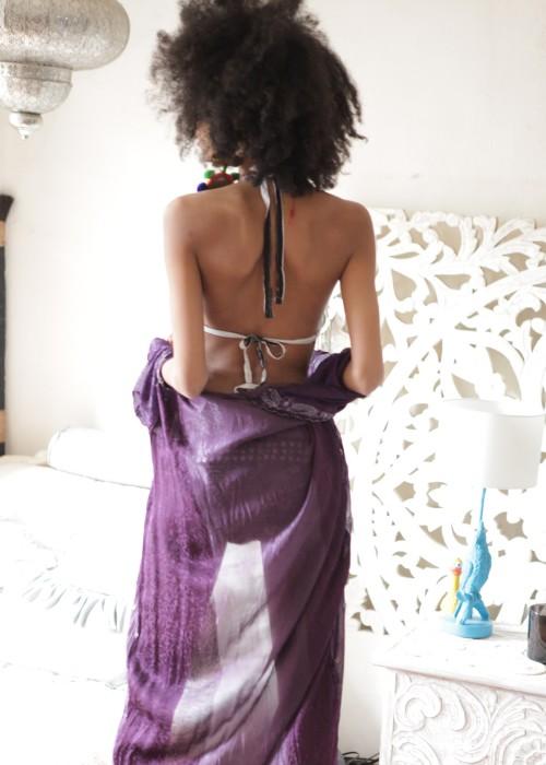 Boho Monokini Embroidery schwarz weiss Gr.L