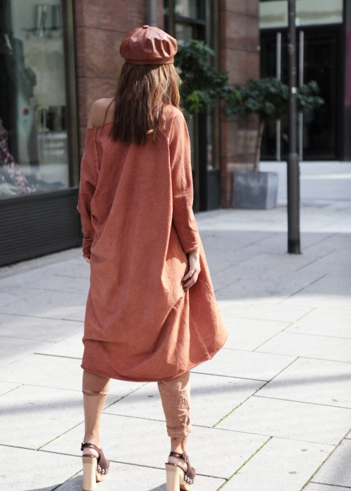 Oversize Long Sweatshirt braun