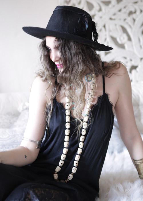 Maxikleid Slip Dress schwarz
