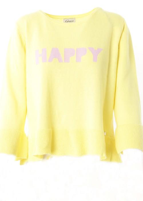 Pullover Volants Happy gelb