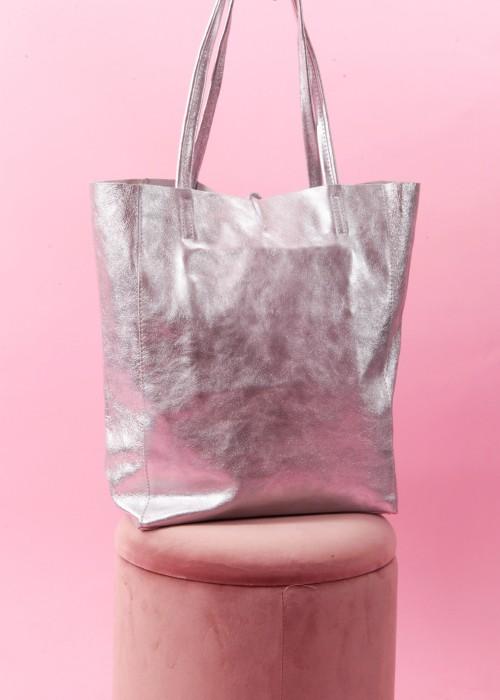 Boho Shopper Tasche Frida Kahlo silber