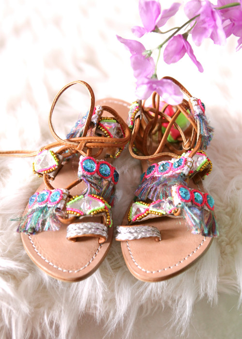 Sandalen Flats Hippie Dancer